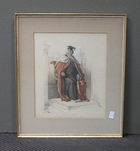 <p><strong>A collection of Academic coloured engravings including Ackermann's College Gowns,</strong