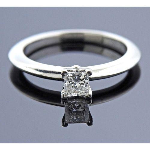 Tiffany & Co 0.31ct VS2 F Princess Diamond Engagement Ring