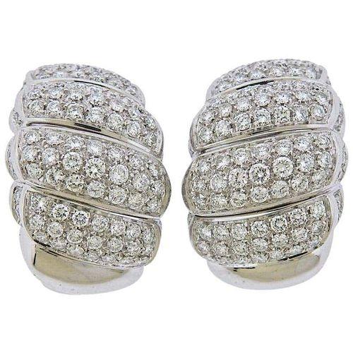 Salvini 2.75 Carat Diamond Gold Half Hoop Earrings