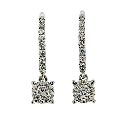 Memoire Gold Diamond Dangle Earrings