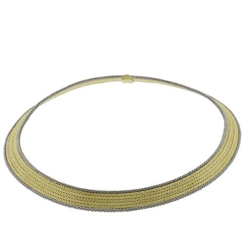 Buccellati Two Color 18k Gold Necklace