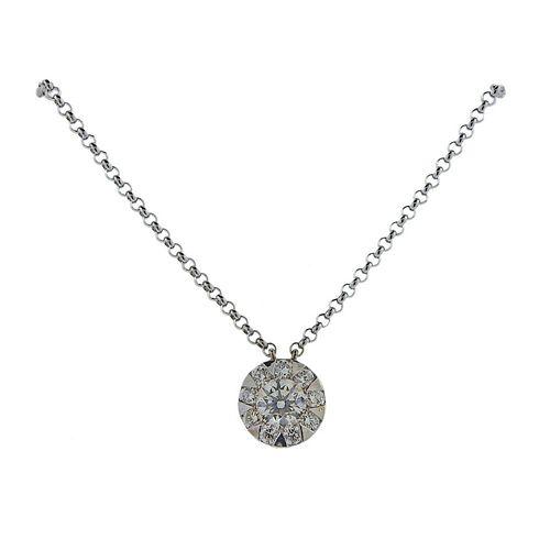 Memoire 18k Gold Diamond 0.50ctw Diamond Pendant Necklace