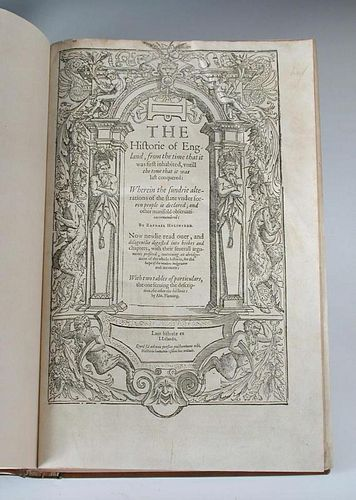 HOLINSHED (R) Chronicles, 1587, folio in sixes, comprising The History of England - Ireland - Scotla