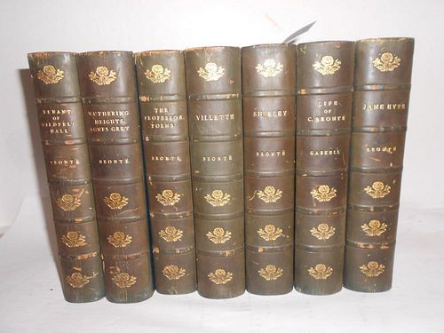 Bindings. BRONTE Sisters. Works, Haworth Edition in 7 vols., c. 1900, 8vo, illustrated, some foxing,