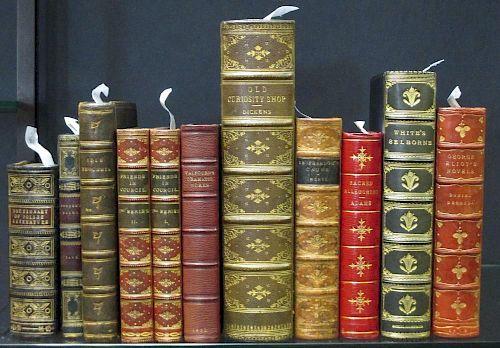 Fine bindings. DICKENS (C) Bleak House, 1853; Old Curiosity Shop, complete in one vol., half morocco