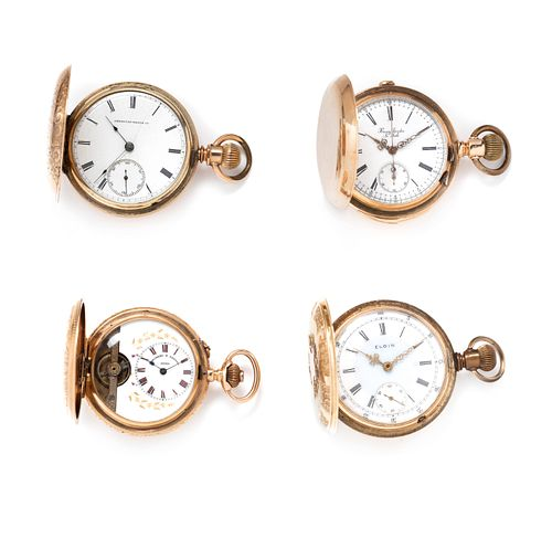 COLLECTION OF HUNTER CASE POCKET WATCHES