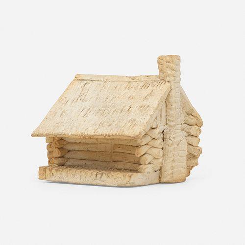 George E. Ohr, Log Cabin novelty inkwell