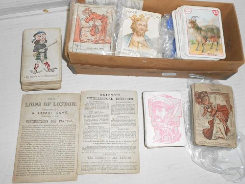 A collection of 19th century pictorial playing cards, of historical, educational, amusing and animal