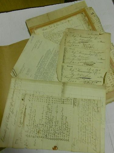 Collection of 17th, 18th century and later manuscript material and ephemera, including Earl of Hardw