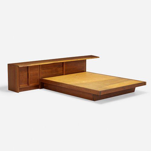 George Nakashima, Conoid headboard and Conoid platform bed