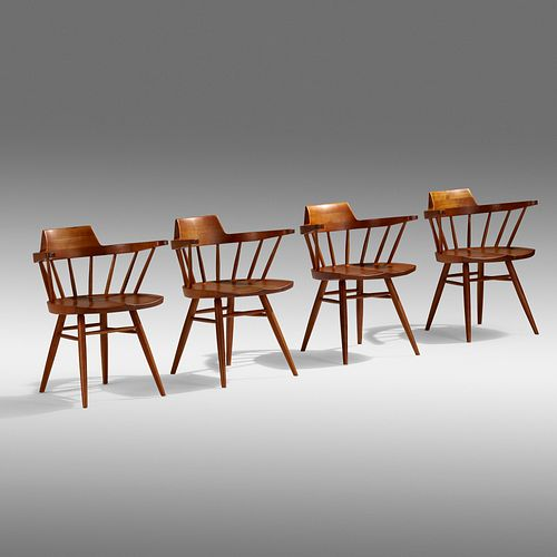 George Nakashima, Armchairs, set of four