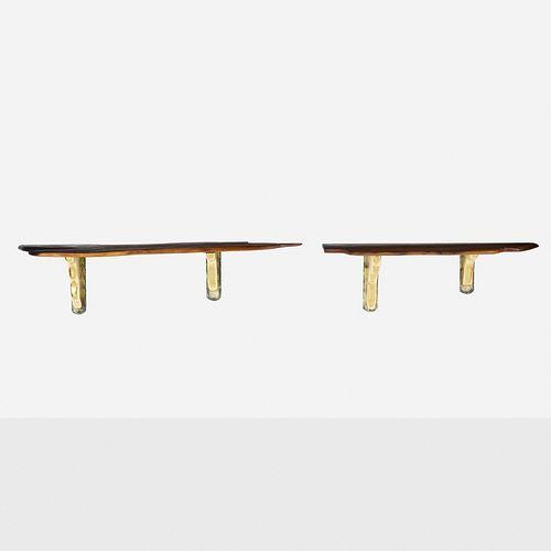 Phillip Lloyd Powell, Wall-mounted shelves, pair