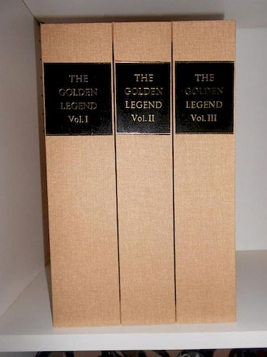 VORAGINE (Jacobus de) The Golden Legend, translated by William Caxton, 3 volumes, Kelmscott Press, 1