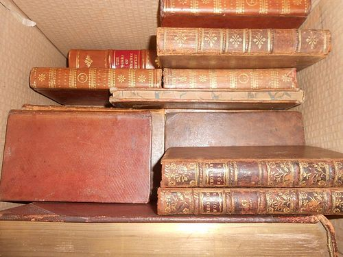 Bindings - poetry. JOHNSON (S) The Works of the English Poets, 17 various vols., 1790, small 8vo, ca