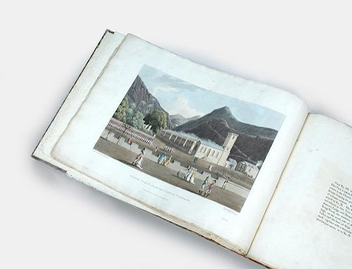 BELLASIS (George Hutchins) 'Six Views of Saint Helena, 1815', oblong folio, lacks title, with six ha
