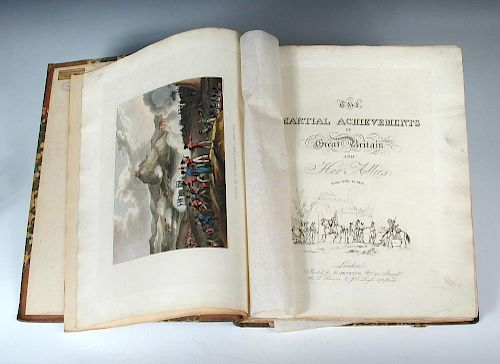 JENKINS (James) The Martial Achievements of Great Britain and her Allies, from 1799 to 1815, 4to, no