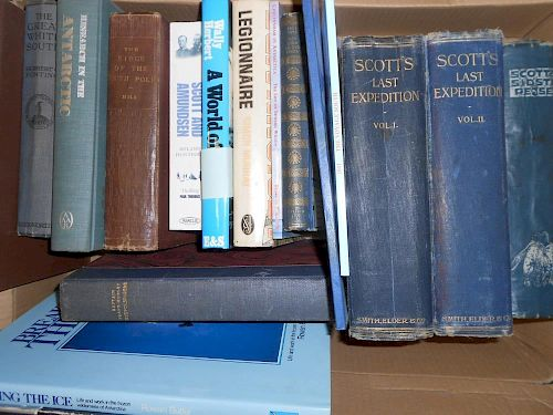 Antarctic and Arctic. A collection of 20th century works, references, a quantity, also to include wh