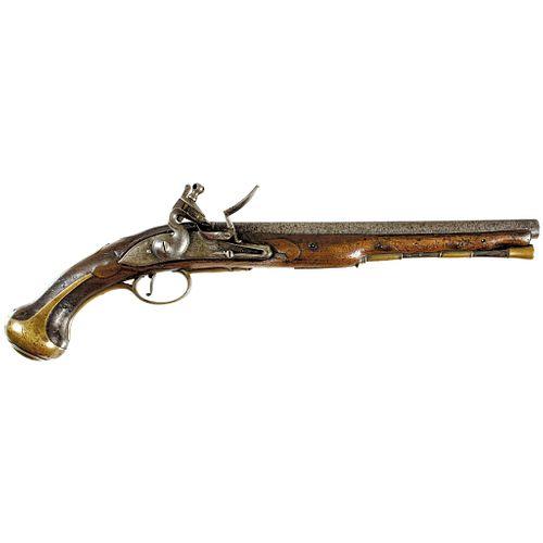 1746-Dated British Military Pattern 1738 Dragoon Flintlock Pistol - JORDAN 1746