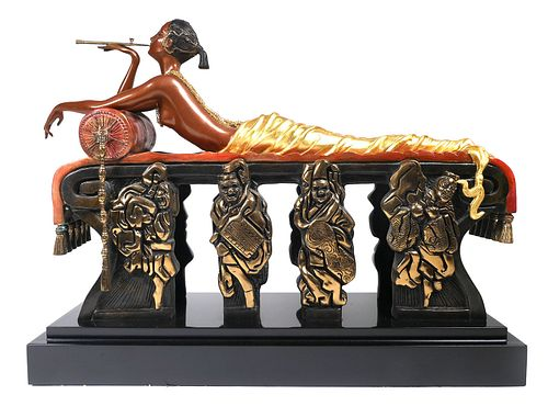 Erte Bronze Daydreams Sculpture