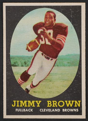 1958 JIMMY BROWN Rookie Card #62