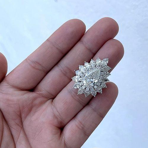 12.64ct Diamond and Platinum Ring