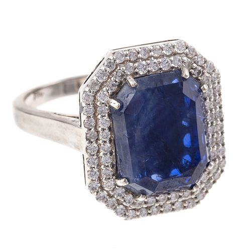 A 3.42 ct Unheated Burmese Sapphire & Diamond Ring