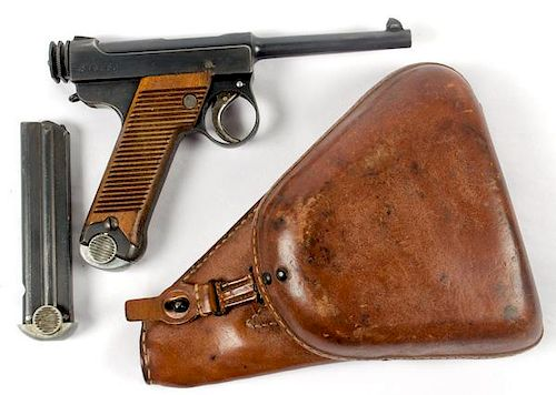 Japanese Type 14 Nambu Pistol with Original Holster by Cowan's