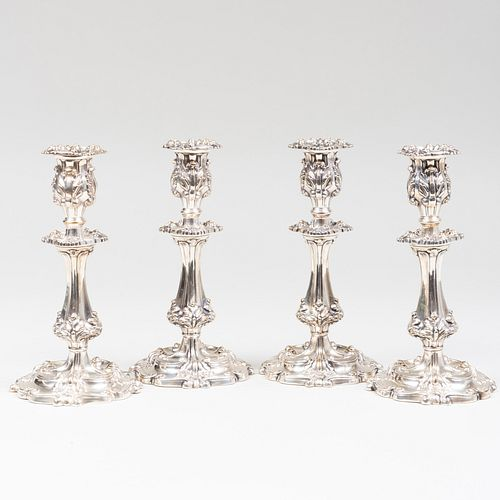 Set of Four Gorham Silver Plate Candlesticks