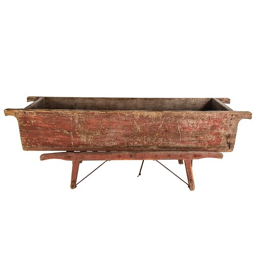 Primitive Painted Hog Scalding Trough on Stand