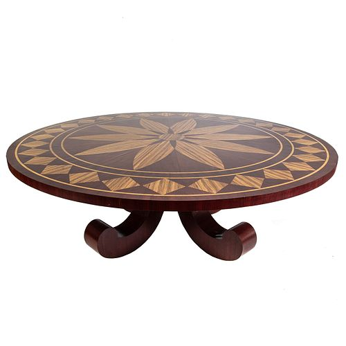 Contemporary Custom Dining Table With Inlaid Top
