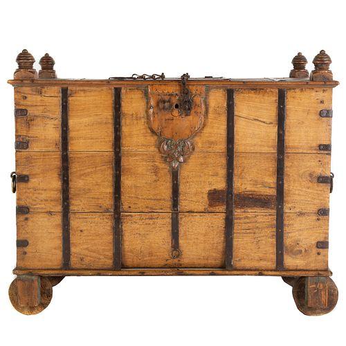 Continental Walnut Treasure Coffer
