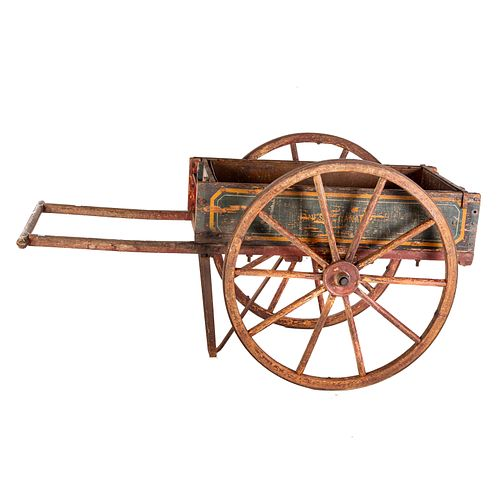 Painted Vendors Wagon Cart