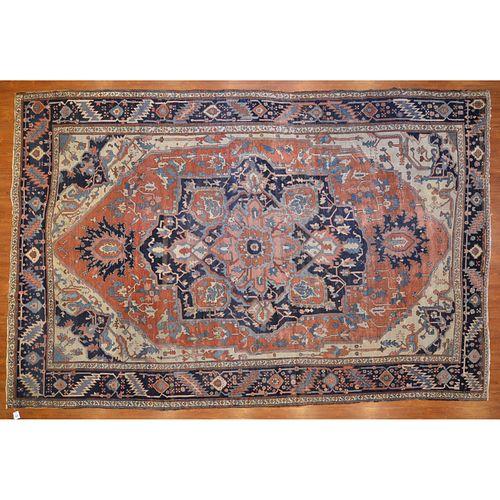 Antique Serapi Carpet, Persia, 9.5 x 14.8