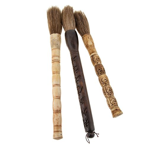 Three Asian Calligraphy Brushes