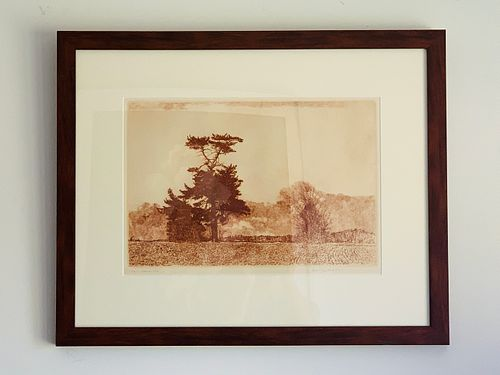 Herbert Fink, LONESOME PINE, Etching on Paper,1979