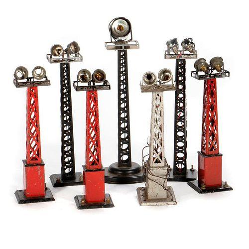O Gauge Marx Floodlight towers