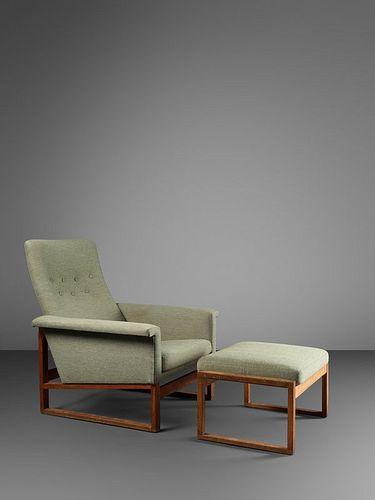 Borge Mogensen (Danish, 1914-1972) Lounge Chair and Ottoman, c. 1961