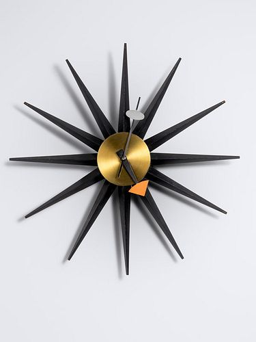 George Nelson & Associates (American, 1908-1986) Spike Wall Clock, model 2202