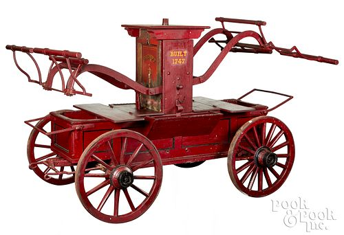 Early fire pump wagon, ca. 1747