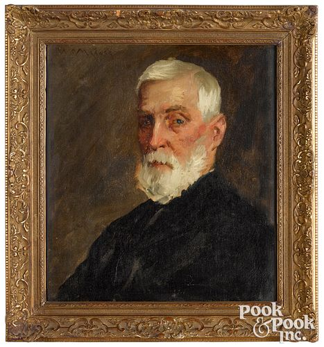 William Merritt Chase oil on canvas portrait