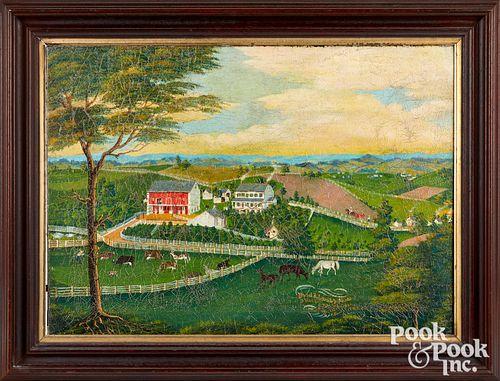 Charles Hofmann view of Daniel B. Lorah's Farm