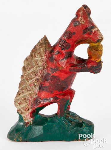 Wilhelm Schimmel carved and painted squirrel