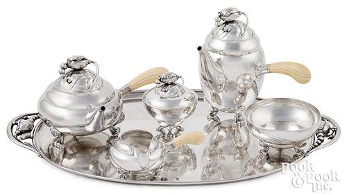 Georg Jensen sterling silver tea & coffee service