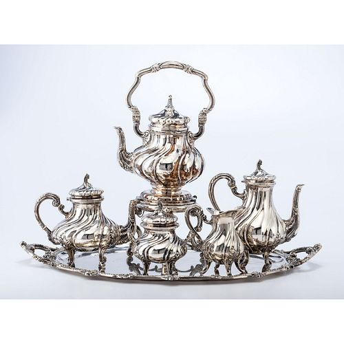 A Six-Piece Continental Silver Coffee Service