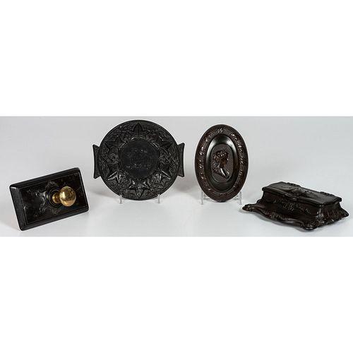 Four Thermoplastic Desk Accessories