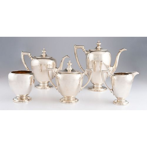 A Reed & Barton Five Piece Silver Tea and Coffee Service