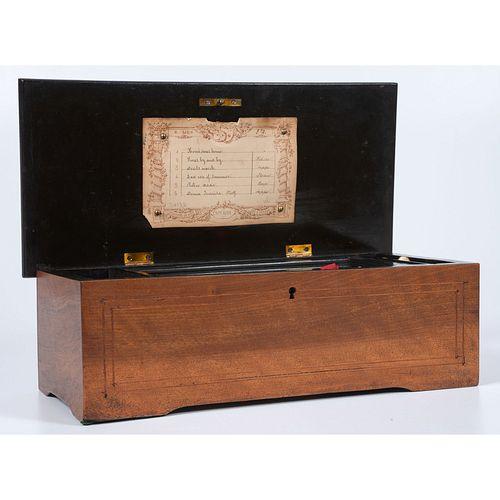 A Swiss Six-Tune Cylinder Music Box