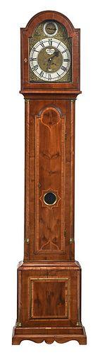 Continental Baroque Inlaid Tall Case Clock