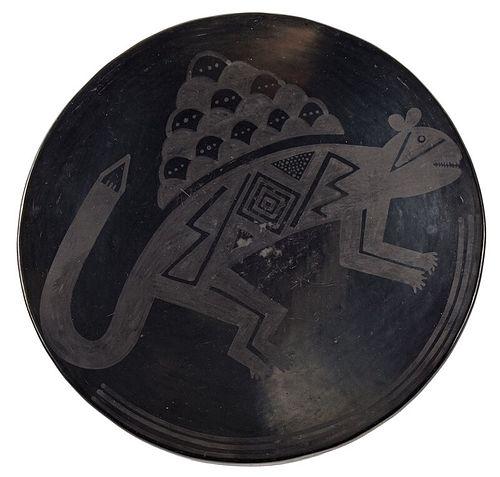 Maria Martinez Blackware Plate