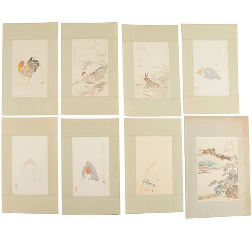 Chinese decorated letter papers, incl. Qi Baishi